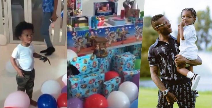 Wizkid Surprises Son Zion, With Huge Birthday Gifts