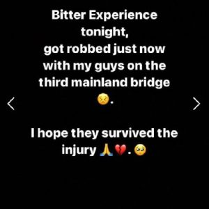 """""""Scary Experience As Robbers Attacked I And My Crew In Lagos"""" - Popular Nigerian Singer Laments (Video)"""